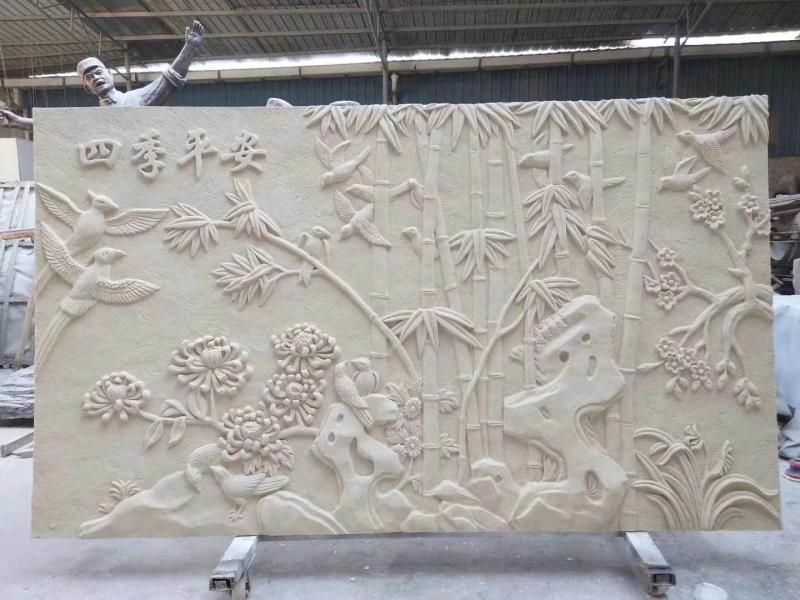 背景墙砂岩浮雕